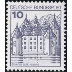 1 عدد تمبر سری پستی کاخها و قلعه ها  - 10 فنیک  - جمهوری فدرال آلمان 1977