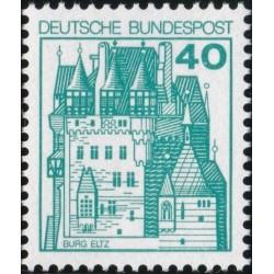 1 عدد تمبر سری پستی کاخها و قلعه ها  - 40 فنیک  - جمهوری فدرال آلمان 1977