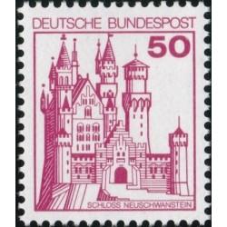 1 عدد تمبر سری پستی کاخها و قلعه ها - 50 فنیک  - جمهوری فدرال آلمان 1977