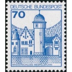 1 عدد تمبر سری پستی کاخها و قلعه ها - 70 فنیک  - جمهوری فدرال آلمان 1977