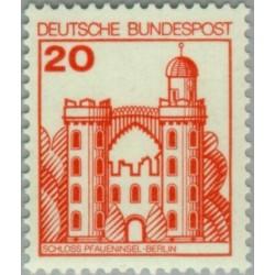 1 عدد تمبر سری پستی کاخها و قلعه ها - 20 فنیک  - جمهوری فدرال آلمان 1978