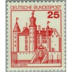 1 عدد تمبر سری پستی کاخها و قلعه ها - 25 فنیک  - جمهوری فدرال آلمان 1978