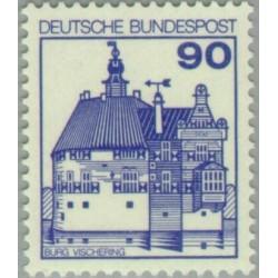 1 عدد تمبر سری پستی کاخها و قلعه ها - 90 فنیک  - جمهوری فدرال آلمان 1978