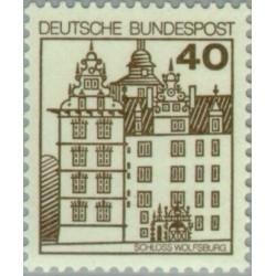 1 عدد تمبر سری پستی کاخها و قلعه ها - 40 فنیک  - جمهوری فدرال آلمان 1980