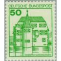 1 عدد تمبر سری پستی کاخها و قلعه ها - 50 فنیک  - جمهوری فدرال آلمان 1980