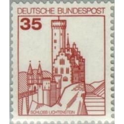 1 عدد تمبر سری پستی کاخها و قلعه ها - 35 فنیک  - جمهوری فدرال آلمان 1982