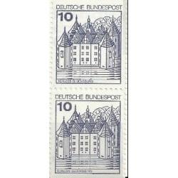 2 عدد تمبر سری پستی کاخها و قلعه ها - 10 فنیک - جفت بوکلتی - جمهوری فدرال آلمان 1978
