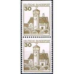 2 عدد تمبر سری پستی کاخها و قلعه ها - 30 فنیک - جفت بوکلتی - جمهوری فدرال آلمان 1978
