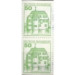 2 عدد تمبر سری پستی کاخها و قلعه ها - 50 فنیک - جفت بوکلتی - جمهوری فدرال آلمان 1980