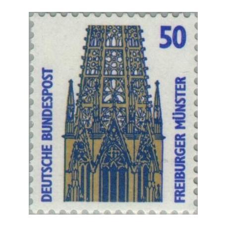 1 عدد تمبر سری پستی چشم اندازها - 50 فنیک - جمهوری فدرال آلمان 1987