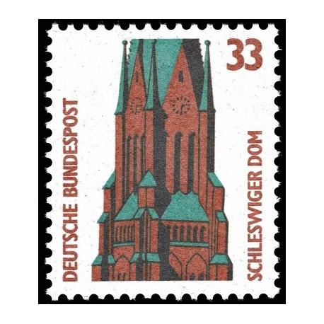 1 عدد تمبر سری پستی چشم اندازها - 33 فنیک - جمهوری فدرال آلمان 1989