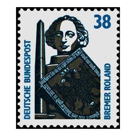 1 عدد تمبر سری پستی چشم اندازها - 38 فنیک - جمهوری فدرال آلمان 1989