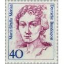 1 عدد تمبر سری پستی زنان نامدار - 40 فنیک - Maria Sibylla Merian - نقاش - جمهوری فدرال آلمان 1987