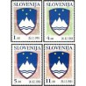 4 عدد تمبر سری پستی - آرمها و نشانها - اسلوونی 1991