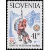 1 عدد تمبر 80مین سالگرد تاسیس سرئیس نجات کوهستان - اسلوونی 1992