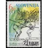 1 عدد تمبر نهصدمین سالگرد مسابقات قایقرانی لوبلانیکا  - اسلوونی 1992