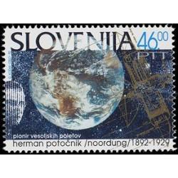 1 عدد تمبر یادبود هرمان پوتونیک - مهندس موشک و پیشگام فضا - اسلوونی 1992