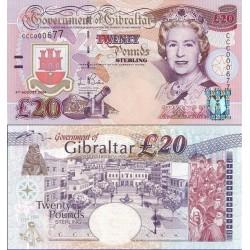 اسکناس 20 پوند - یادبود سه قرن قانونگذاری انگلیس در جبل الطارق - جبل الطارق 2004  سفارشی - توضیحات را ببینید