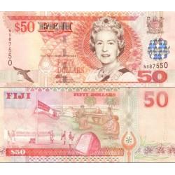 اسکناس 50 دلار - فیجی 2002 سفارشی - توضیحات را ببینید
