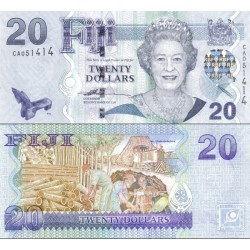 اسکناس 20 دلار - فیجی 2007 سفارشی - توضیحات را ببینید