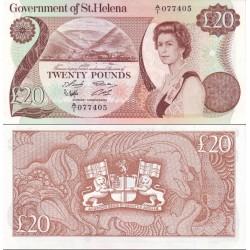 اسکناس 20 پوند - سنت هلن 1986 سفارشی  - توضیحات را ببینید