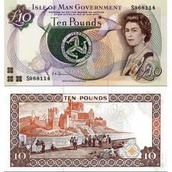اسکناس 10 پوند - جزیره من 2007 بدون کلمه limited بعد از bank سفارشی - توضیحات را ببینید