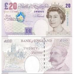 اسکناس 20 پوند - انگلیس 1999 سفارشی - توضیحات را ببینید