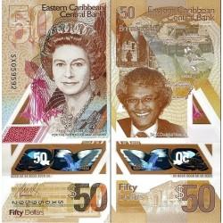 اسکناس پلیمر 50 دلار - کارائیب شرقی 2019 سفارشی - توضیحات را ببینید