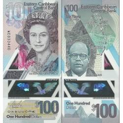 اسکناس پلیمر 100 دلار - کارائیب شرقی 2019 سفارشی - توضیحات را ببینید
