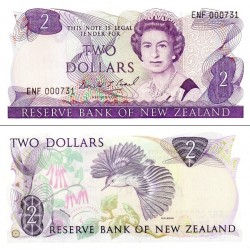 اسکناس 2 دلار - نیوزلند 1992 سفارشی  - توضیحات را ببینید