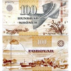 اسکناس 100 کرون - جزایر فارو 2011 سفارشی - توضیحات را ببینید