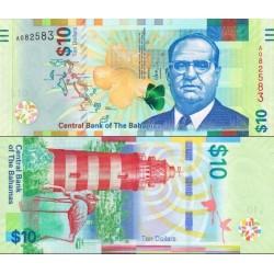اسکناس 10 دلار - باهاماس 2016 سفارشی - توضیحات را ببینید