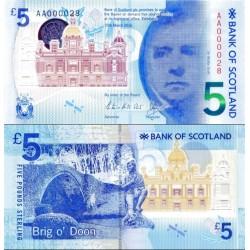 اسکناس 5 پوند استرلینگ - اسکاتلند 2016 سفارشی - توضیحات را ببینید