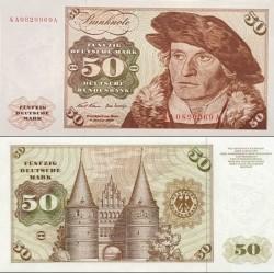 اسکناس 50 مارک - جمهوری فدرال آلمان 1970 سفارشی - توضیحات را ببینید