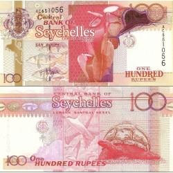 اسکناس 100 روپیه - سیشل 2001 سفارشی - توضیحات را ببینید