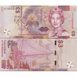 اسکناس 3 دلار - باهاماس 2019 سفارشی - توضیحات را ببینید