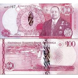 اسکناس 100 پانگا - پادشاهی تونگا 2015 سفارشی - توضیحات را ببینید