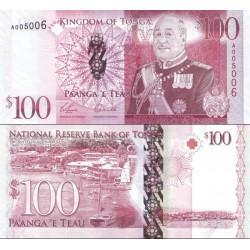 اسکناس 100 پانگا - پادشاهی تونگا 2008 سفارشی - توضیحات را ببینید