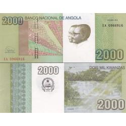 اسکناس 2000 کوانزا - آنگولا 2012 سفارشی - توضیحات را ببینید
