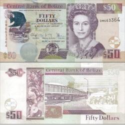 اسکناس 50 دلار - نوامبر - بلیز 2014 سفارشی - توضیحات را ببینید