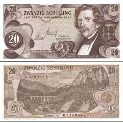 اسکناس 20 شیلینگ - اتریش 1967 سفارشی - توضیحات را ببینید