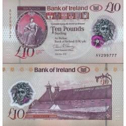 اسکناس پلیمر 10 پوند استرلینگ - ایرلند شمالی 2017 - سفارشی - توضیحات را ببینید