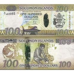 اسکناس پلیمر 100 دلار - جزایر سلیمان 2015 سفارشی - توضیحات را ببینید