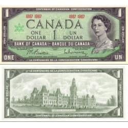 اسکناس 1 دلار - کانادا 1967 سفارشی - توضیحات را ببینید