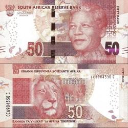 اسکناس 50 رند - تصویر نلسون ماندلا - آفریقای جنوبی 2016 سفارشی - توضیحات را ببینید