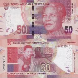 اسکناس 50 رند - یادبود صدمین سالگرد تولد نلسون ماندلا - آفریقای جنوبی 2018 سفارشی - توضیحات را ببینید
