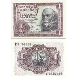 اسکناس 1 پزوتا - اسپانیا 1953 سفارشی - توضیحات رو ببینید