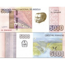 اسکناس 5000 کوانزا - آنگولا 2012 سفارشی - توضیحات را ببینید