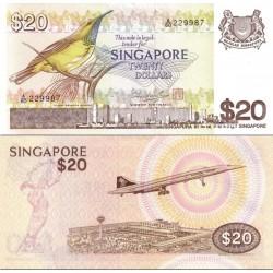 اسکناس 20 دلار - سنگاپور 1976 سفارشی - توضیحات را ببینید