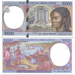 اسکناس 10000 فرانک سری P - چاد 2000 - آفریقای مرکزی 2000 دو رقم اول سریال سال انتشار - سفارشی - توضیحات را ببینید
